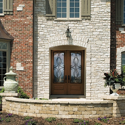 Architect Series European 3/4 Light Entry Door with Glass